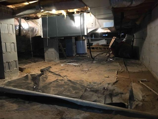 Removing Debris and Encapsulating a Musty Crawl Space in Thomasville, NC