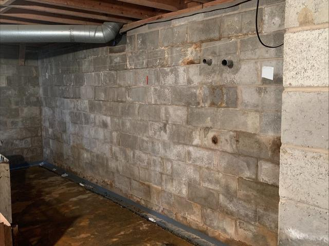 Cracking and Bowing Basement Wall Support in Siloam, NC
