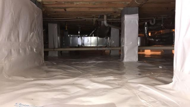 Reducing Humidity using Vapor Barrier in Mocksville, NC
