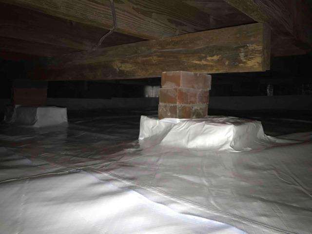 Protecting Nasty Mc Leansville Crawl Space from Humidity in NC
