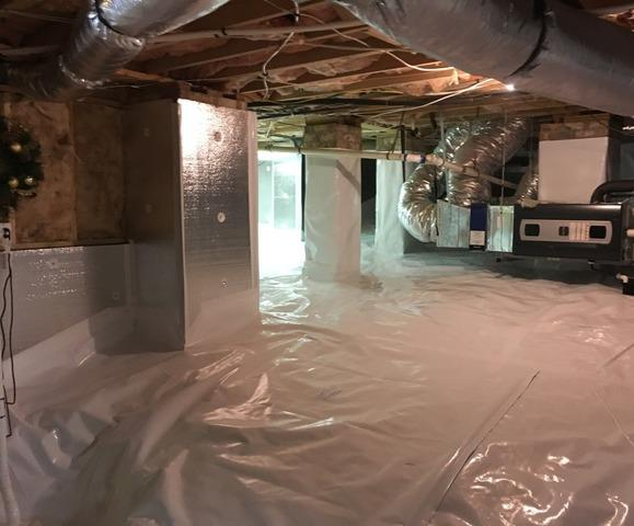 Wrapping and Insulating Humid Crawl Space in Jamestown, NC