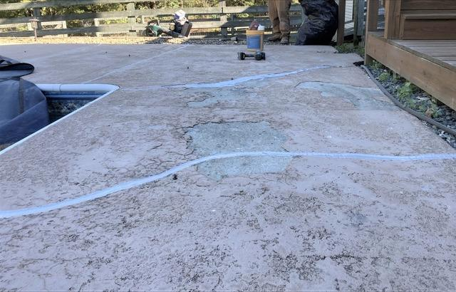 Sealing Cracked Concrete Pool Deck in Liberty, NC