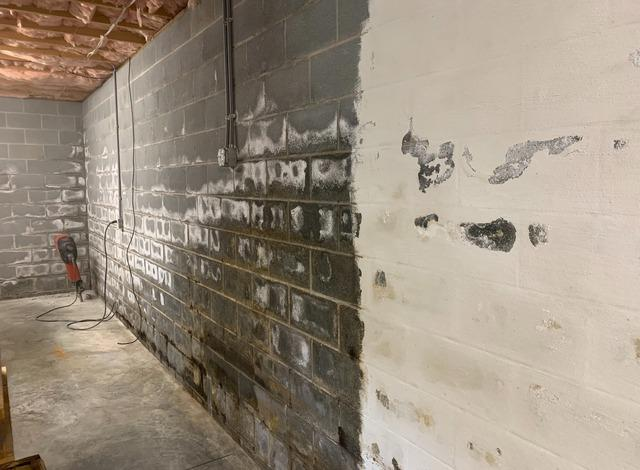 Musty and Moldy Basement Interior Waterproofing in Millers Creek, NC