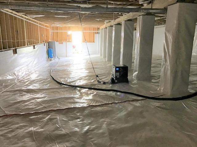 Crawl Space Vapor Barrier and Dehumidifier Installation in Summerfield, NC