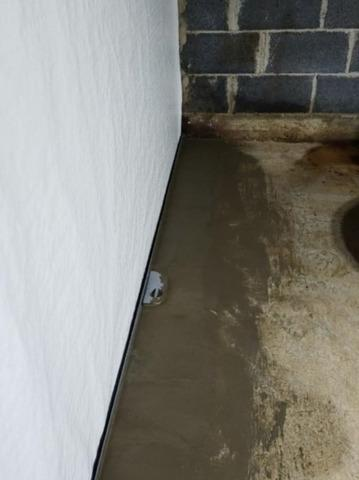 WaterGuard Interior Waterproofing System Installation in Ennice, NC