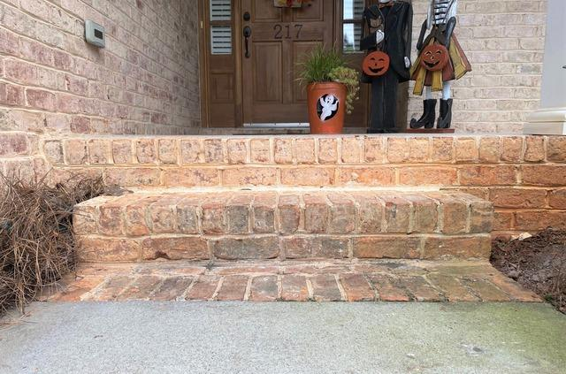 Lifting and Repairing Brick Steps in Mocksville, NC
