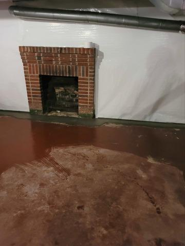 WaterGuard Drainage Installed in Basement in Winston-Salem, NC