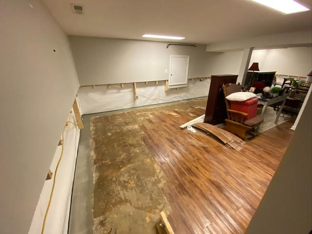 Waterproofing Behind Finished Basement Wall in Advance, NC