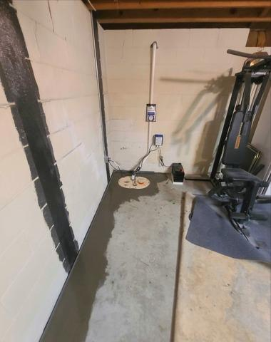 Interior Basement Waterproofing in Trinity, NC