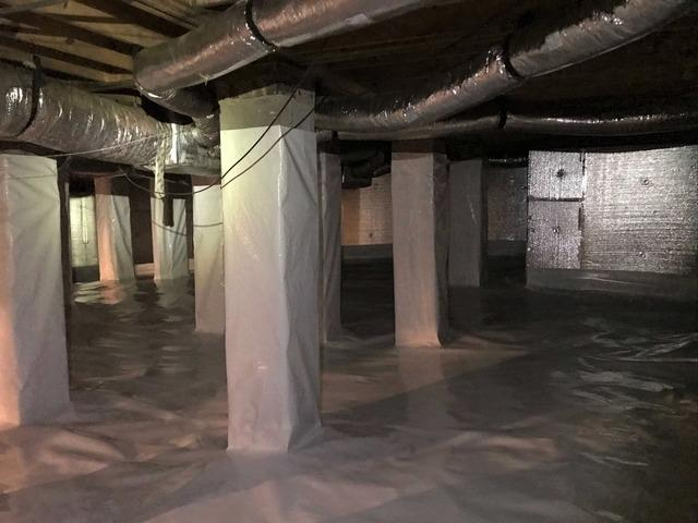 Dehumidifying and Insulating Crawl Space in Elon, NC