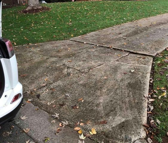Leveling and Repairing Concrete Driveway in Greensboro, NC