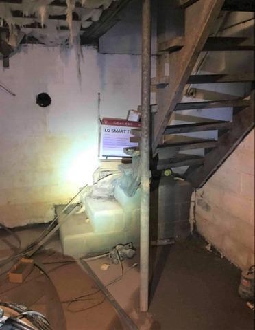Interior Waterproofing Wet and Nasty Basement in Yadkinville, NC