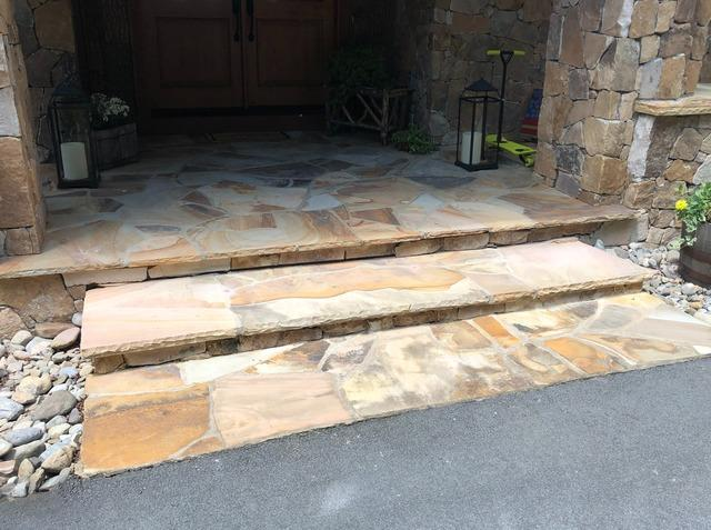 Stabilizing Rock Porch Steps in Elk Park, NC