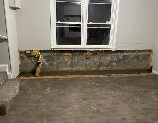 Water Intrusion Behind Finished Basement in Kernersville, NC