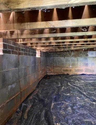 Nasty Crawl Space Encapsulation and Waterproofing in Summerfield, NC