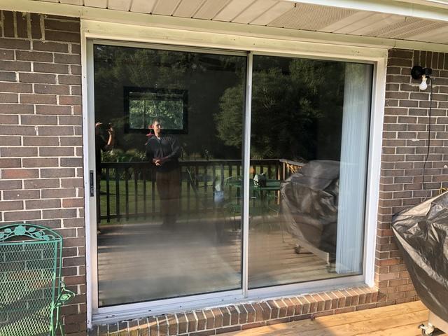 Energy Efficient Sliding Glass Door - Before Photo