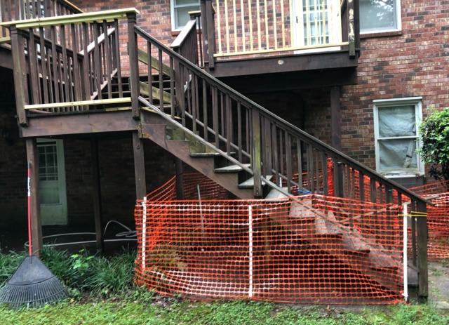 Fortress Hand Rail System - Before Photo