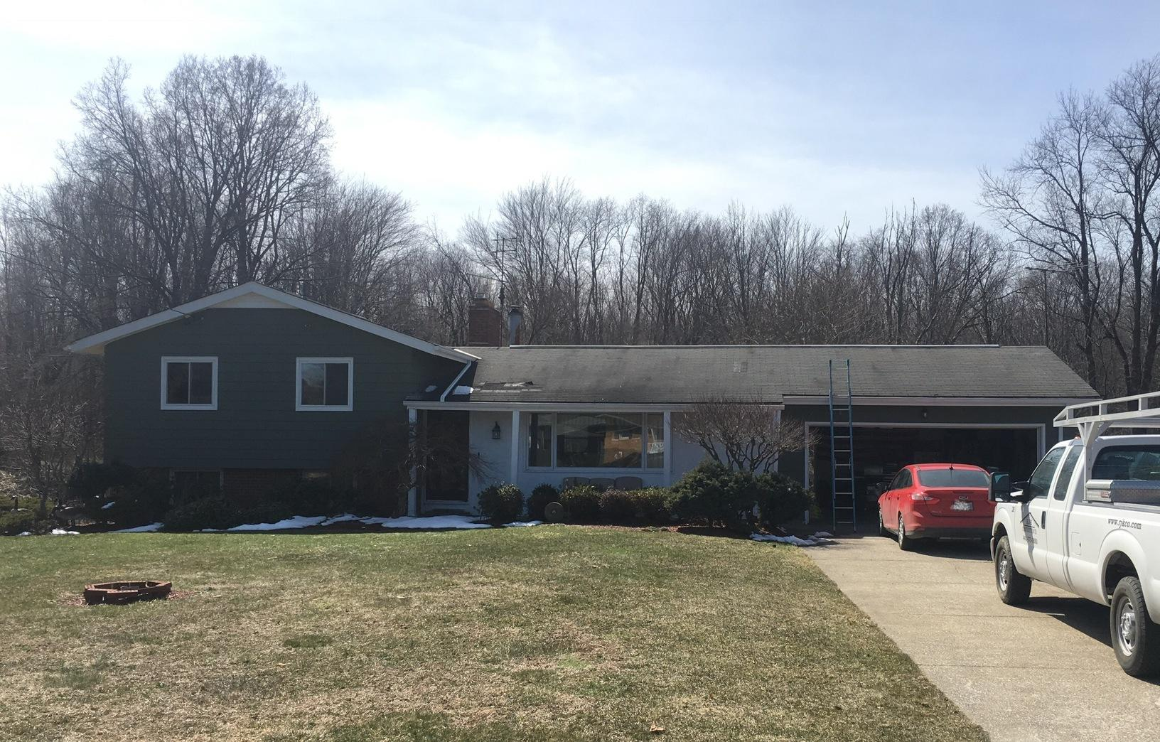 Roof Replacement In Perry Ohio - Before Photo