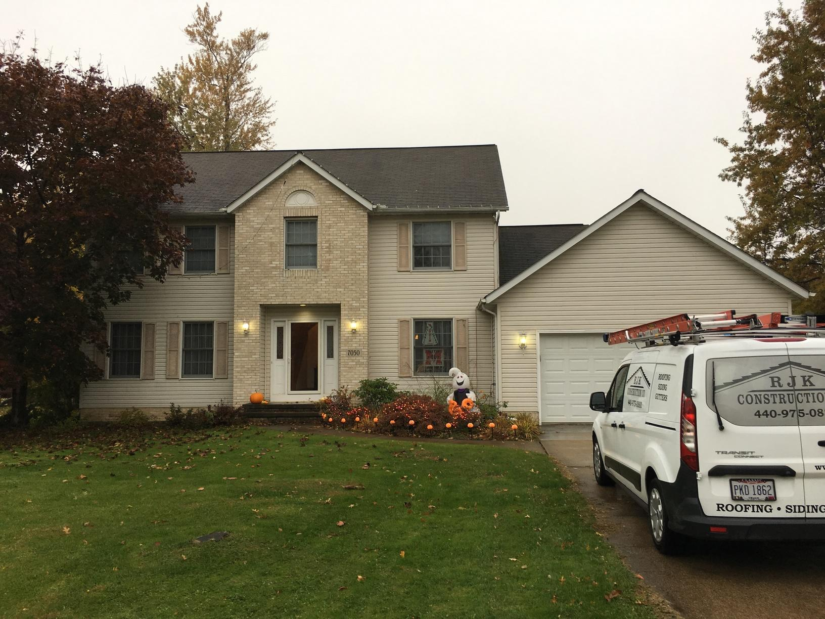 Roof and Gutter Replacement in Mentor, OH - Before Photo
