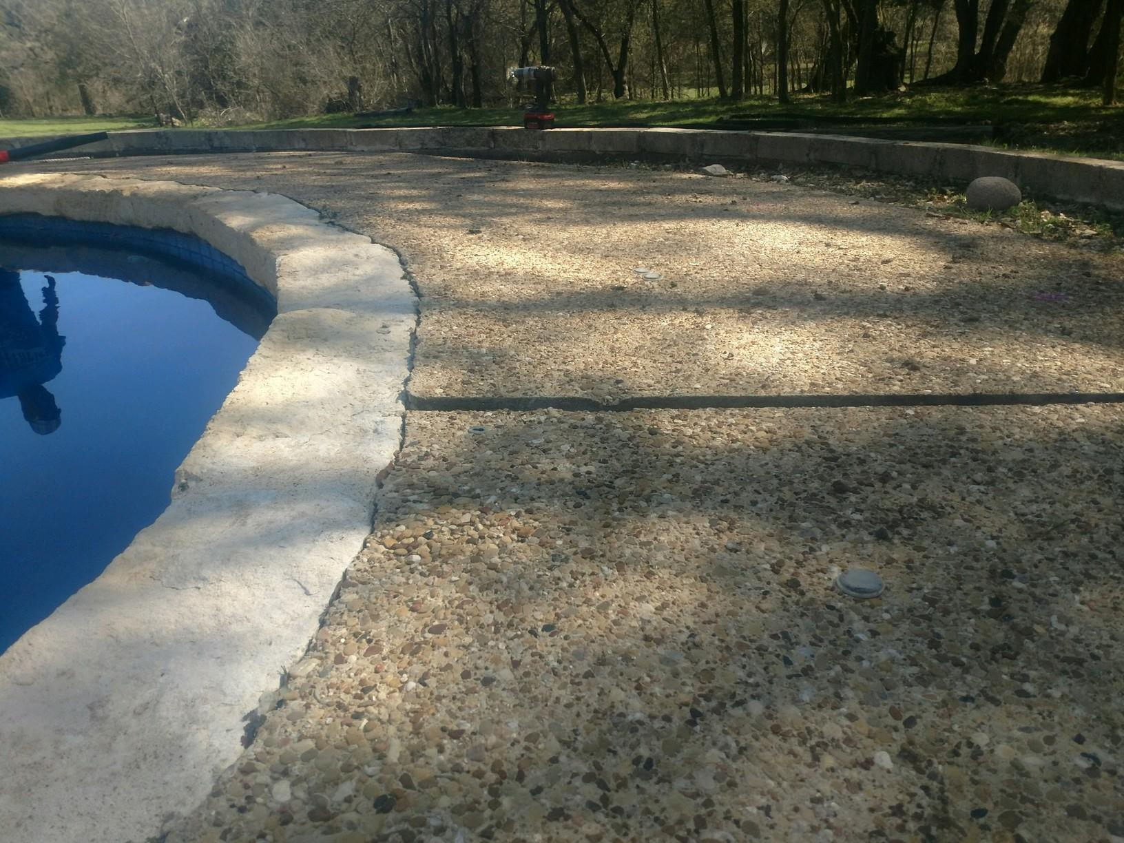 Pool Deck Sealent in Temple,TX - Before Photo