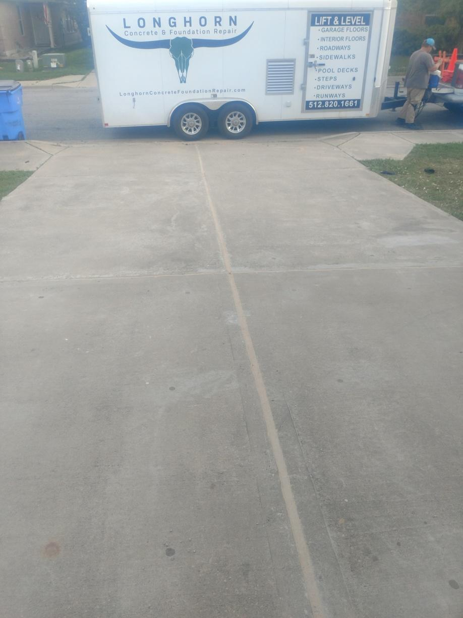 Driveway Caulked and Lifted in Bastrop, TX - After Photo