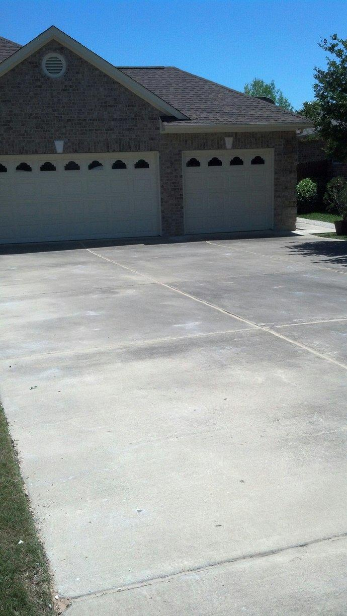 Driveway Lifted and Caulked in Round Rock, TX - After Photo