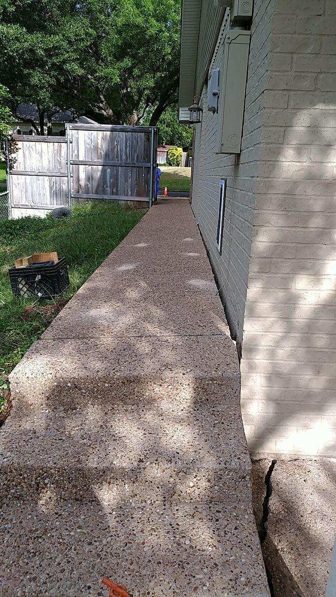 Sidewalk Repair in Waco, TX - Before Photo