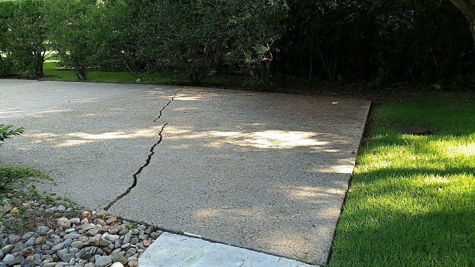 Driveway Repair in Georgetown, TX - Before Photo