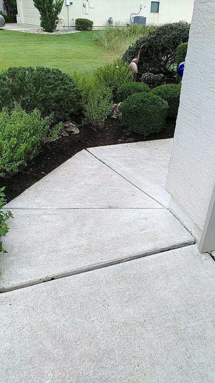 Polylevel Sidewalk Repair in Georgetown, TX - Before Photo