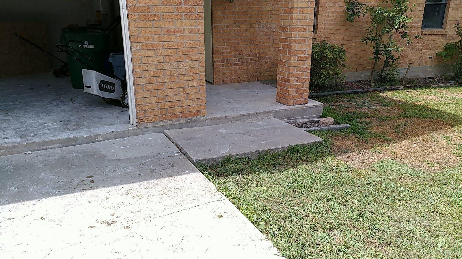 Polylevel Sidewalk Repair done in Taylor, TX - Before Photo