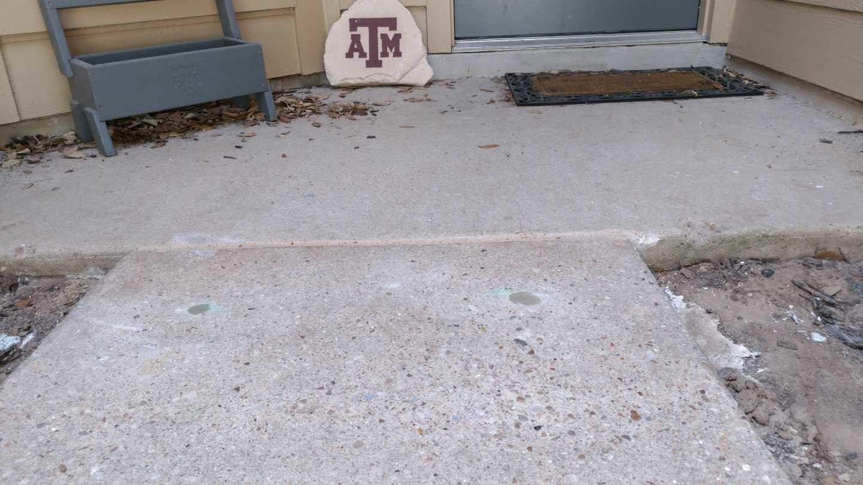 Sidewalk Repair in Georgetown, Tx - After Photo