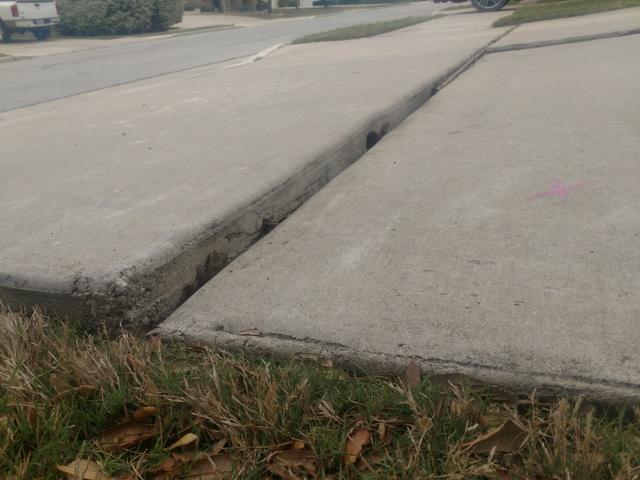 Sunken Driveway Slab. Pflugerville, TX