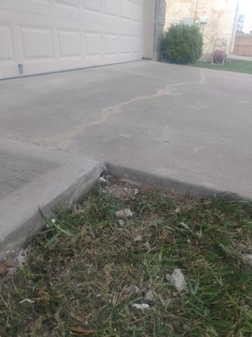Repair Cracked Driveway in Bastrop, Tx - After Photo