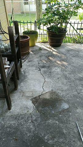 Patio Leveled by Polylevel in Killeen, TX - Before Photo