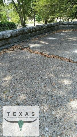 Concrete Patio Repair in Salado, Tx - Before Photo