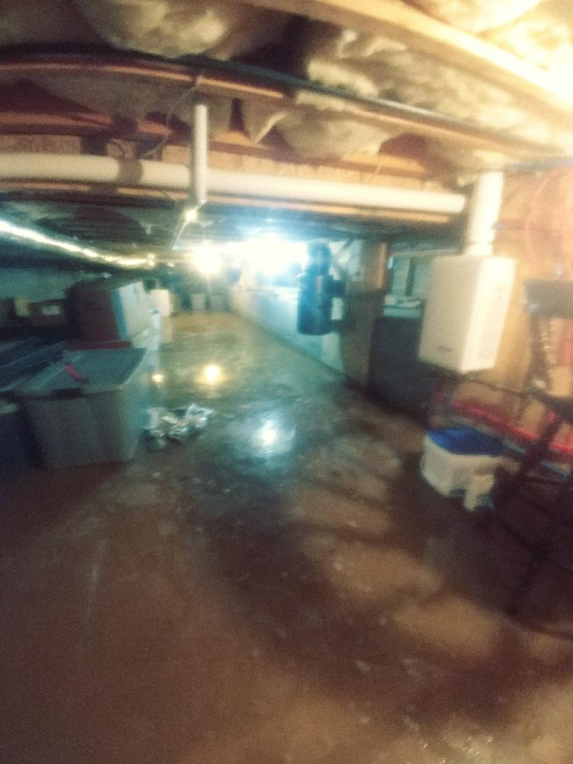 Keswick, VA Crawlspace Waterproofing - Before Photo