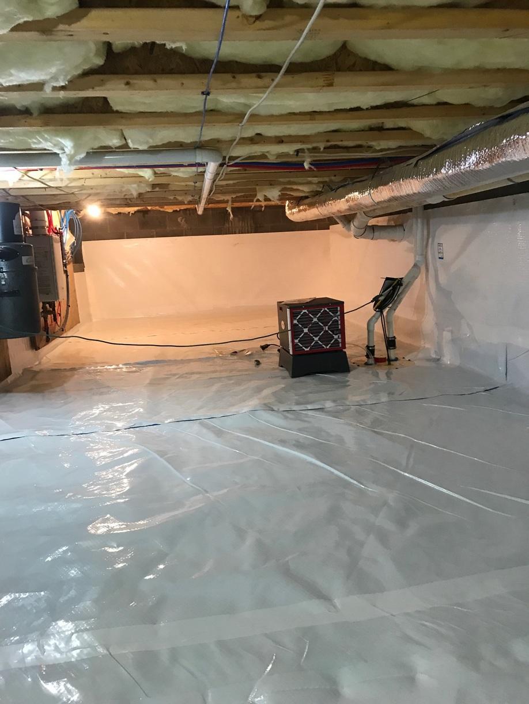 Keswick, VA Crawlspace Waterproofing - After Photo