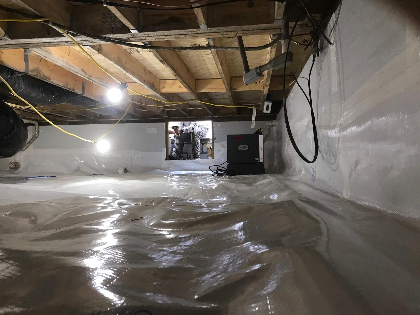 Grottoes, VA Crawl Space Encapsulation and Waterproofing - After Photo