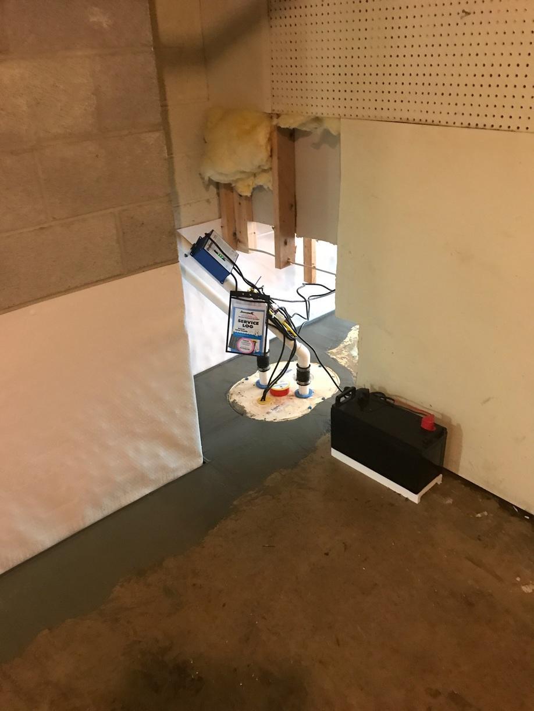 Warrenton, VA Basement Waterproofing - After Photo