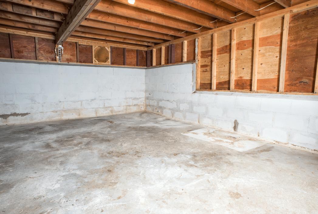 Spotsylvania, VA Basement Waterproofing - Before Photo