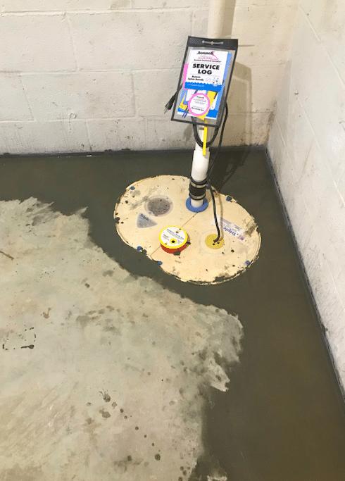 Linden, VA Sump Pump Installation - After Photo