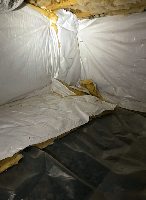 Winchester, VA Crawlspace Waterproofing - Before Photo