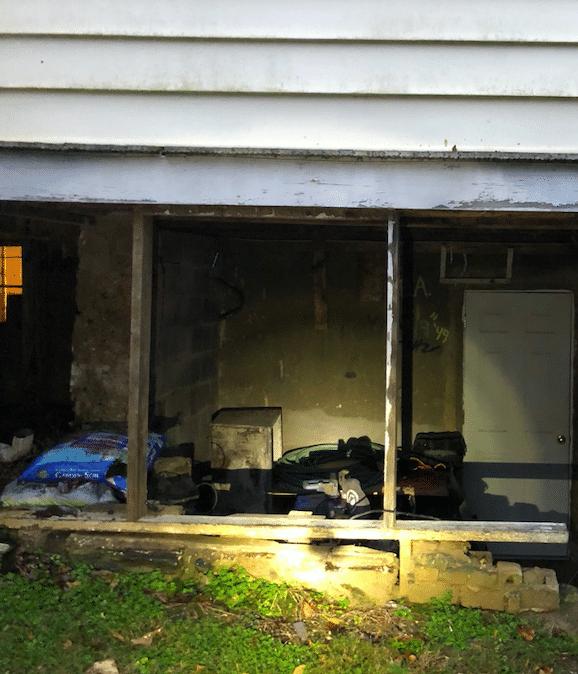 Lynchburg, VA Home Settlement Repair - Before Photo