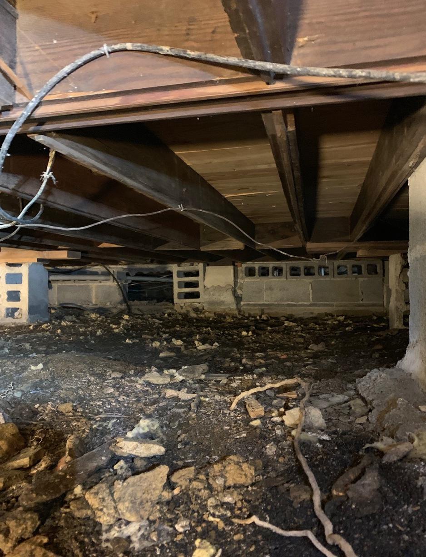 White Post, VA Crawlspace Encapsulation - Before Photo
