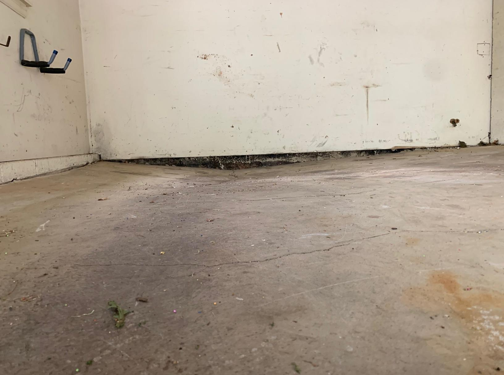 Warrenton, VA Concrete Slab Repair - Before Photo