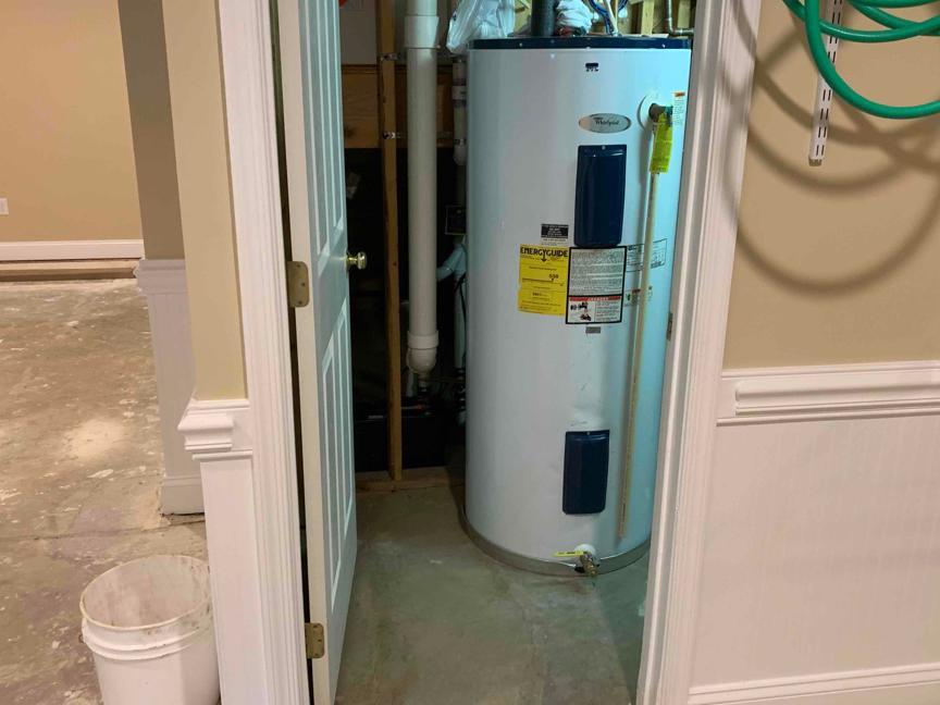 Ijamsville, Maryland Basement Waterproofing - Before Photo
