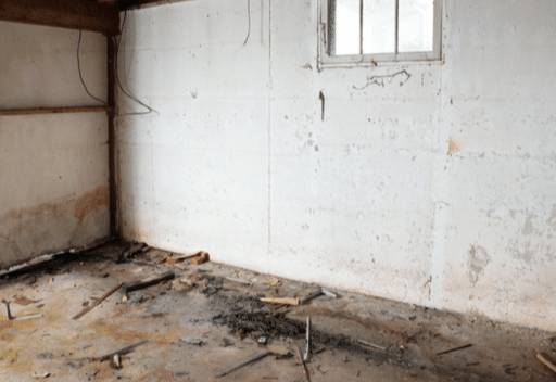 Basement Waterproofing - Frederick,MD - Before Photo