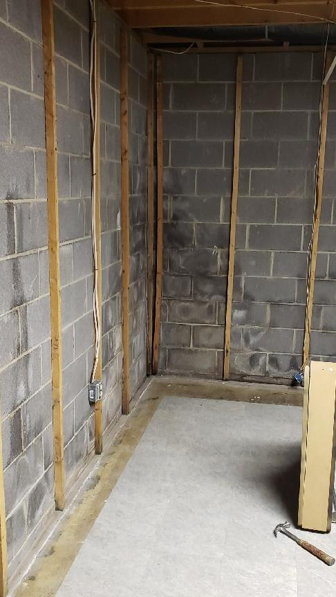 Bowing Wall - Frederick, MD - Before Photo