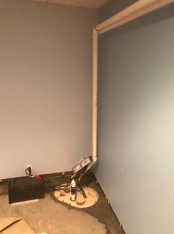 Garrett Park, MD Basement Waterproofing - After Photo