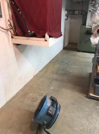 Beallsville, MD Basement Waterproofing - Before Photo
